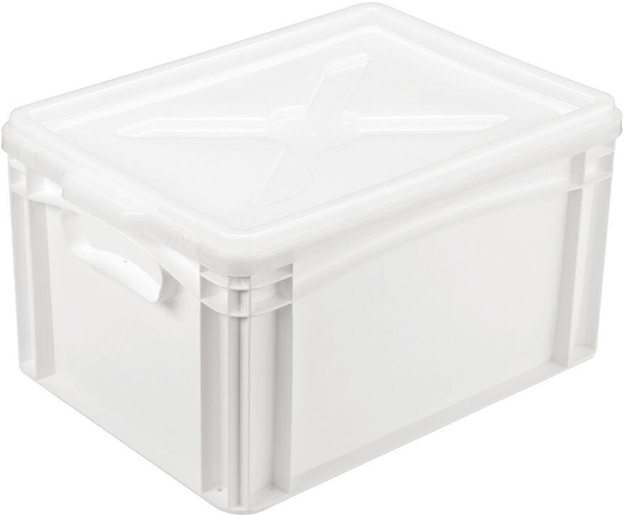 couvercle pour bac gerbable plein blanc 400x300