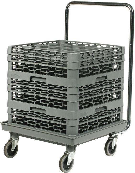chariots pour casiers de lavage 54 x 54 cm avec poignée