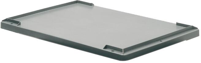 couvercle pour bacs gerbables pleins ou ajourés gris 600x400