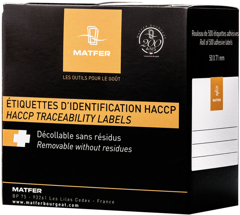 boîte de 250 étiquettes hydrosolubles 5x3.2 cm