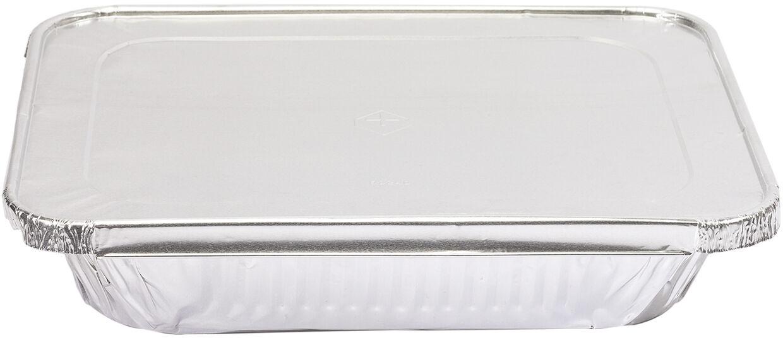carton de 100 couvercles coiffants en aluminium pour plat gastronorme aluminium à bord rond GN1/2 329x269 mm