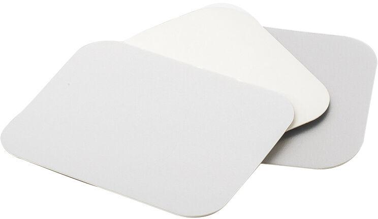 carton de 400 (4 paquets de 100) couvercles en carton aluminisé 1 face pour plats GN 1/2 à bord vertical 314x248 mm