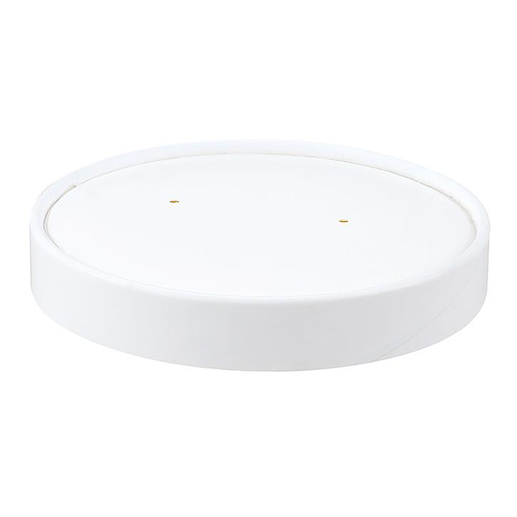 carton de 500 ( vrac ) couvercles carton blanc ronds pour pots snack 35/47 cl