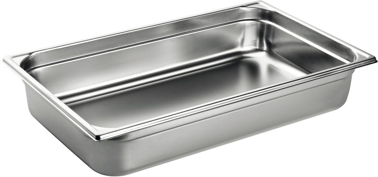 bac gastronorme plein inox - sans anse - GN 1/1 profondeur 15 cm